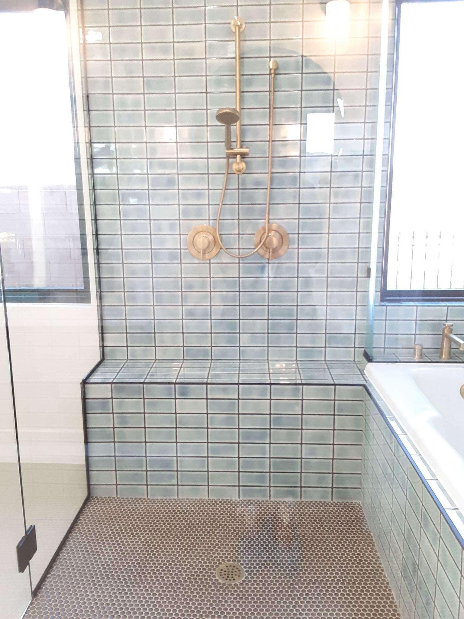 View inside of shower